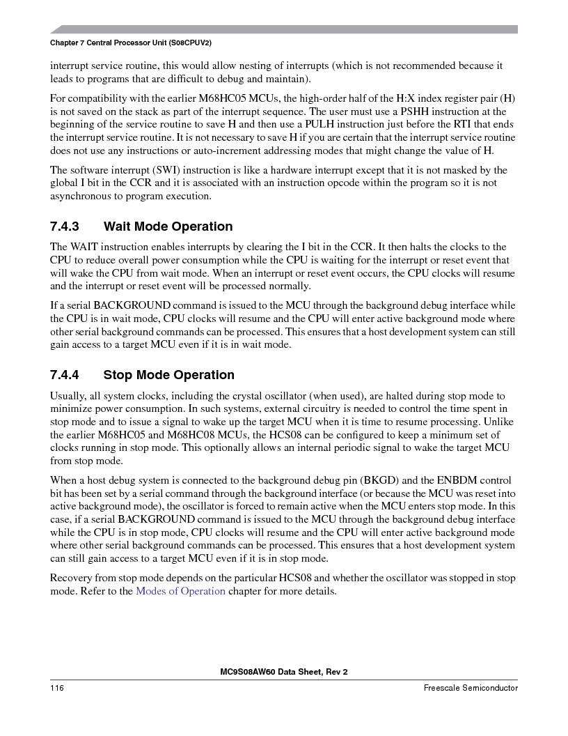 MC9S08AW60CFGER ,Freescale Semiconductor厂商,IC MCU 60K FLASH 4K RAM 44-LQFP, MC9S08AW60CFGER datasheet预览  第116页