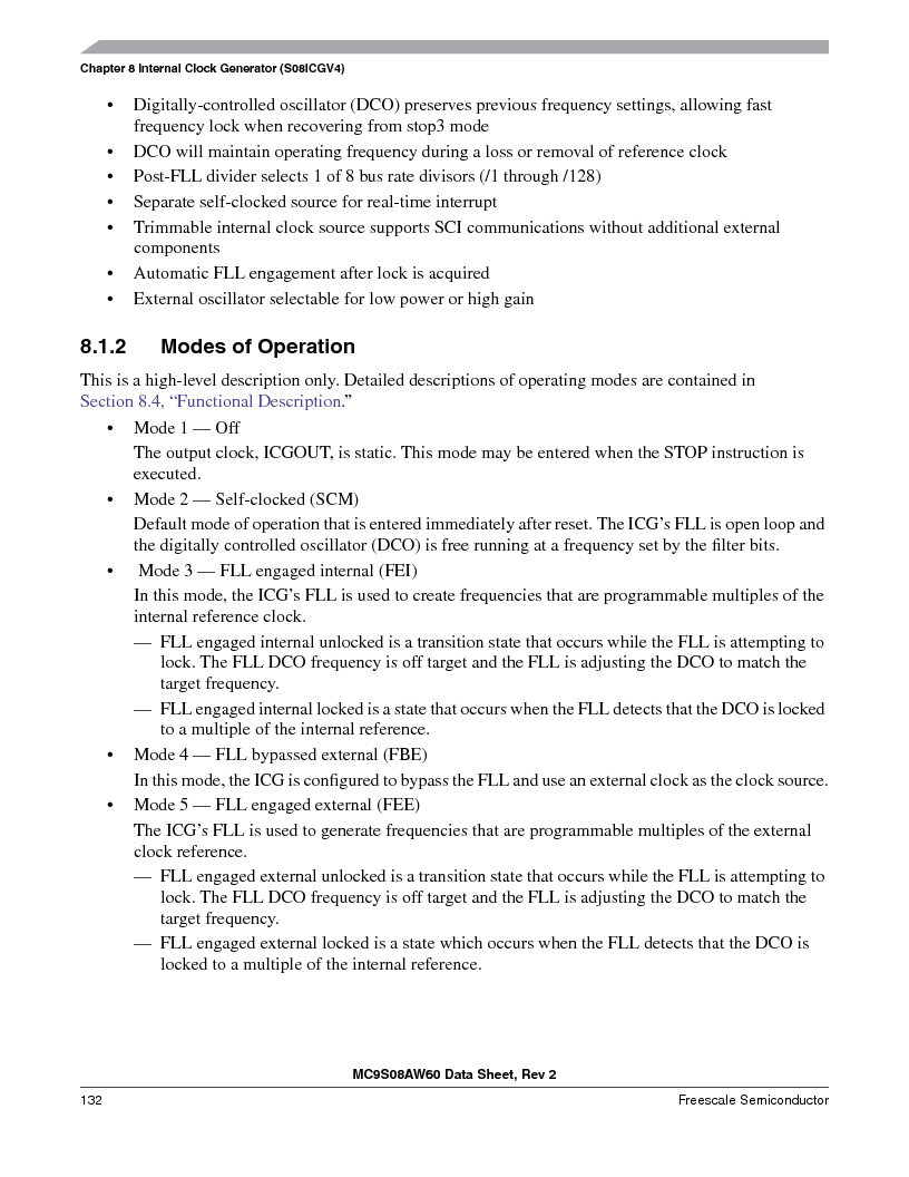 MC9S08AW60CFGER ,Freescale Semiconductor厂商,IC MCU 60K FLASH 4K RAM 44-LQFP, MC9S08AW60CFGER datasheet预览  第132页