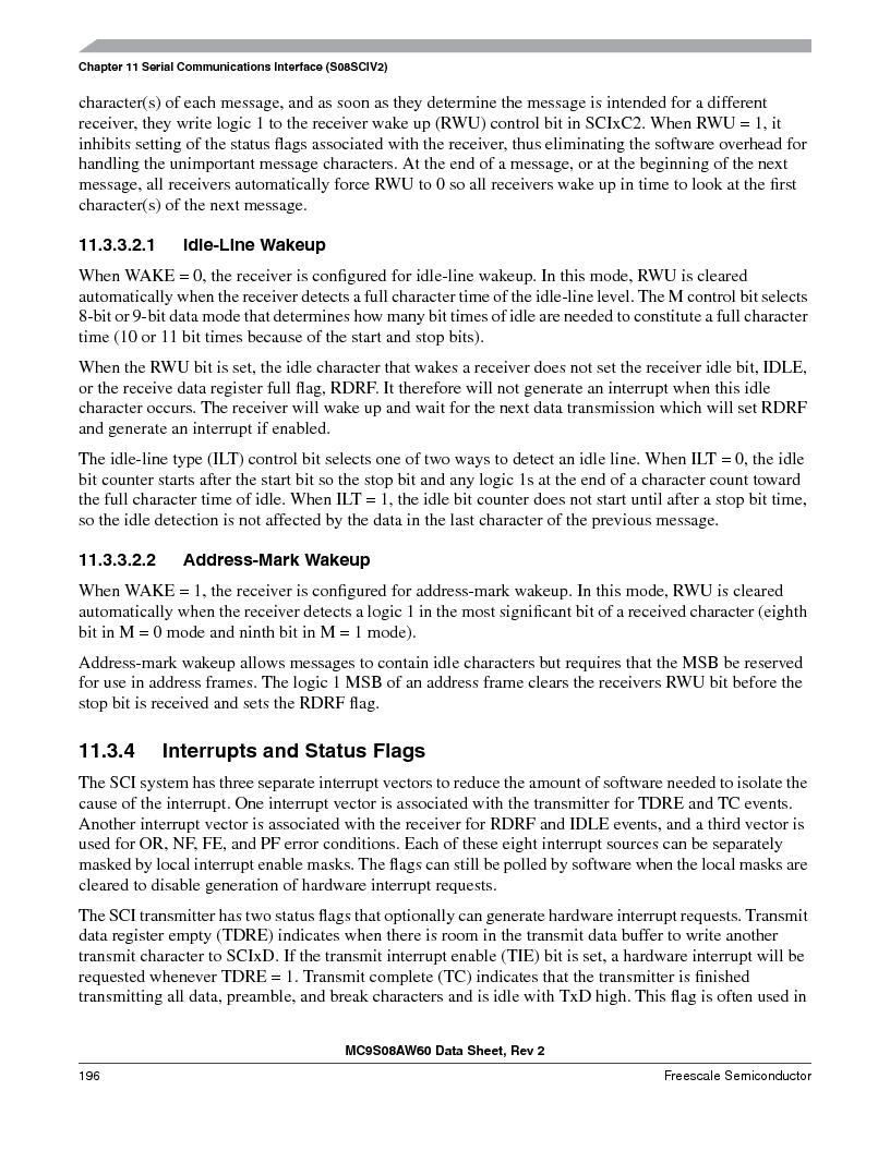 MC9S08AW60CFGER ,Freescale Semiconductor厂商,IC MCU 60K FLASH 4K RAM 44-LQFP, MC9S08AW60CFGER datasheet预览  第196页