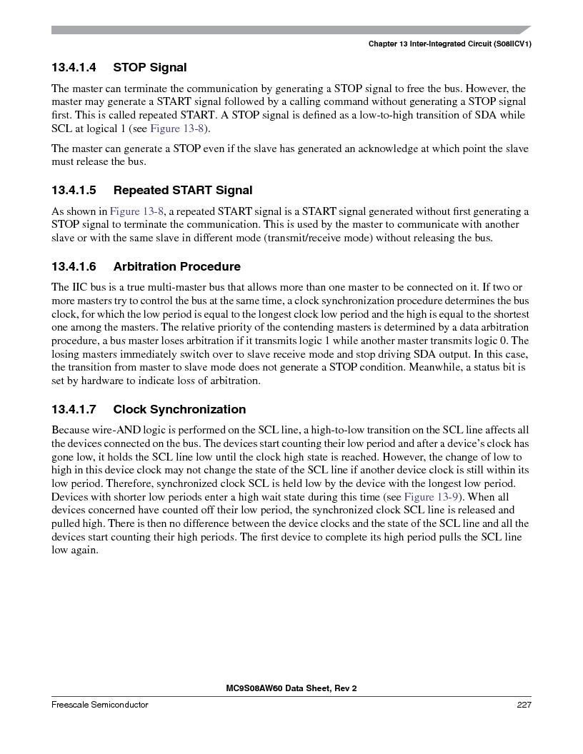 MC9S08AW60CFGER ,Freescale Semiconductor厂商,IC MCU 60K FLASH 4K RAM 44-LQFP, MC9S08AW60CFGER datasheet预览  第227页