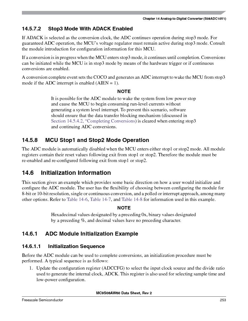 MC9S08AW60CFGER ,Freescale Semiconductor厂商,IC MCU 60K FLASH 4K RAM 44-LQFP, MC9S08AW60CFGER datasheet预览  第253页