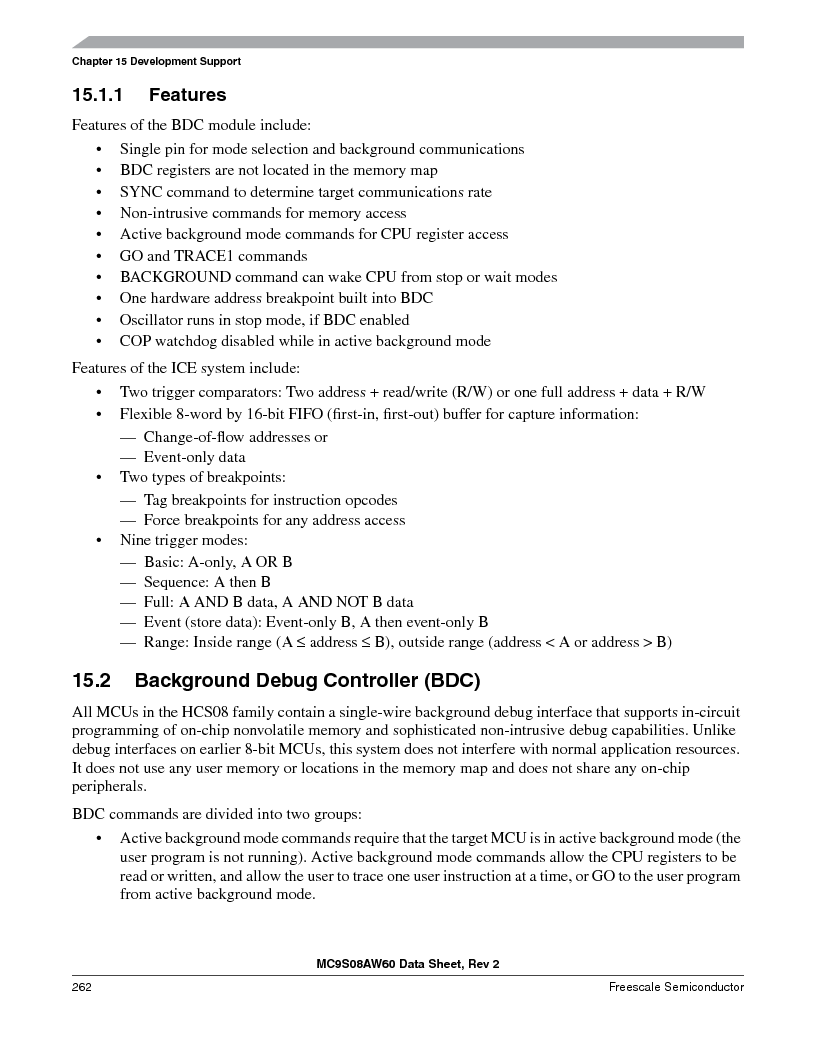 MC9S08AW60CFGER ,Freescale Semiconductor厂商,IC MCU 60K FLASH 4K RAM 44-LQFP, MC9S08AW60CFGER datasheet预览  第262页