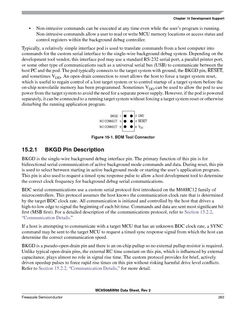 MC9S08AW60CFGER ,Freescale Semiconductor厂商,IC MCU 60K FLASH 4K RAM 44-LQFP, MC9S08AW60CFGER datasheet预览  第263页