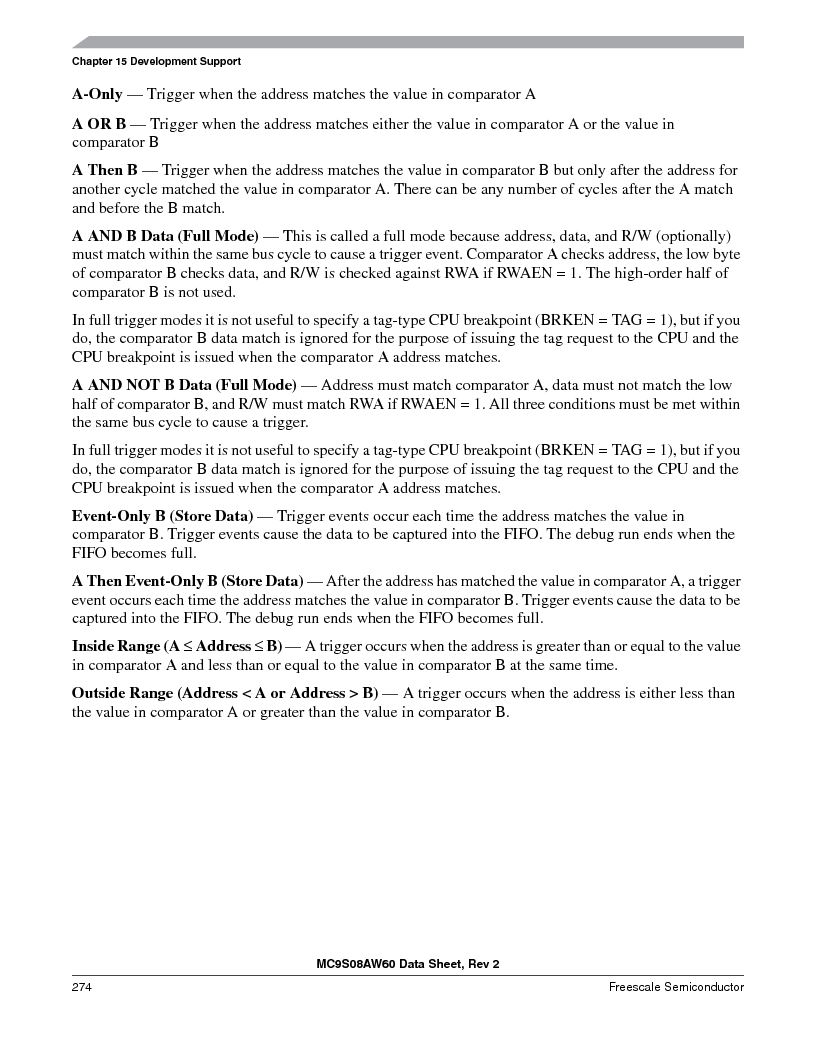 MC9S08AW60CFGER ,Freescale Semiconductor厂商,IC MCU 60K FLASH 4K RAM 44-LQFP, MC9S08AW60CFGER datasheet预览  第274页