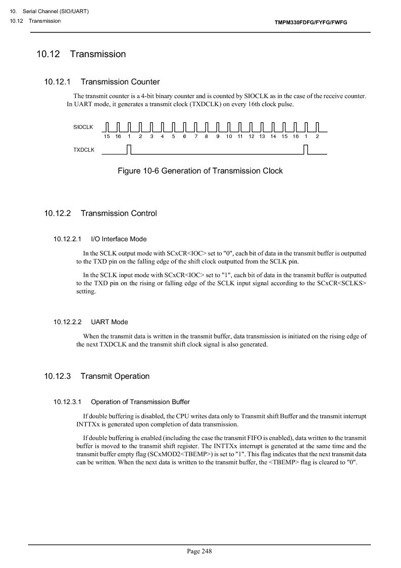 TMPM330FWFG ,Toshiba厂商,IC MICROCONTROLLER, TMPM330FWFG datasheet预览  第268页