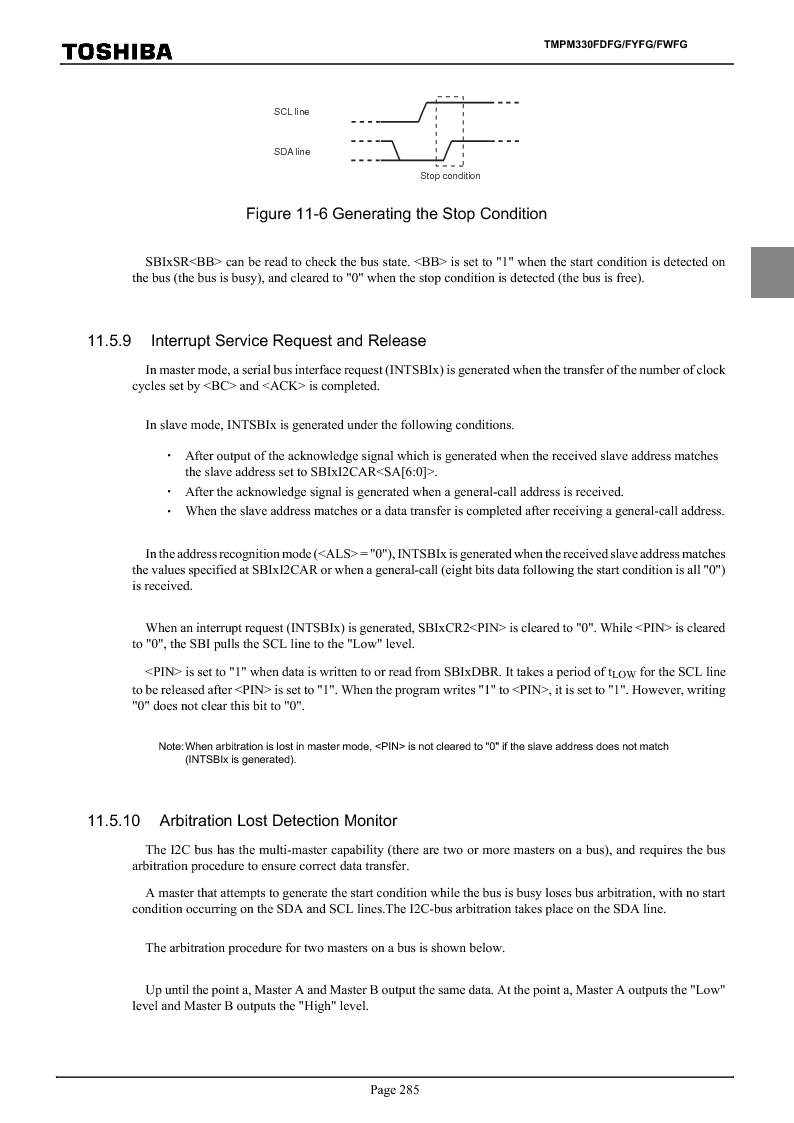 TMPM330FWFG ,Toshiba厂商,IC MICROCONTROLLER, TMPM330FWFG datasheet预览  第305页