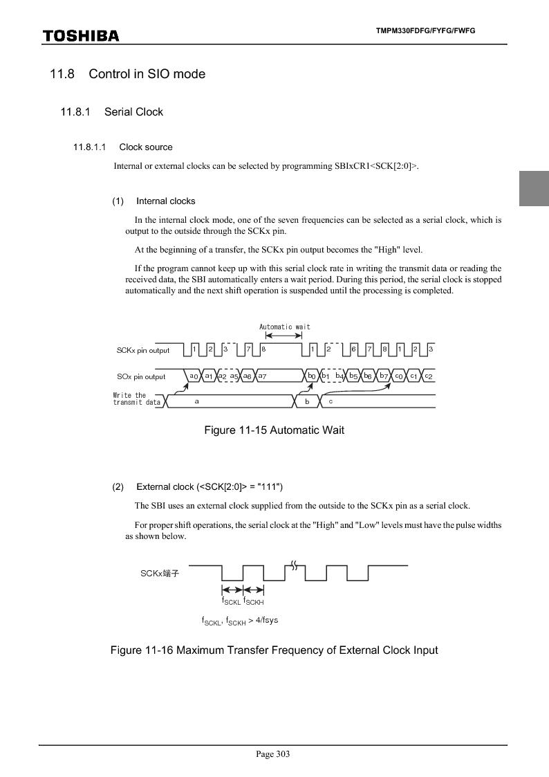 TMPM330FWFG ,Toshiba厂商,IC MICROCONTROLLER, TMPM330FWFG datasheet预览  第323页
