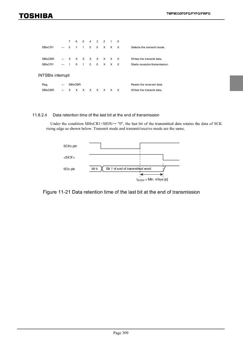 TMPM330FWFG ,Toshiba厂商,IC MICROCONTROLLER, TMPM330FWFG datasheet预览  第329页