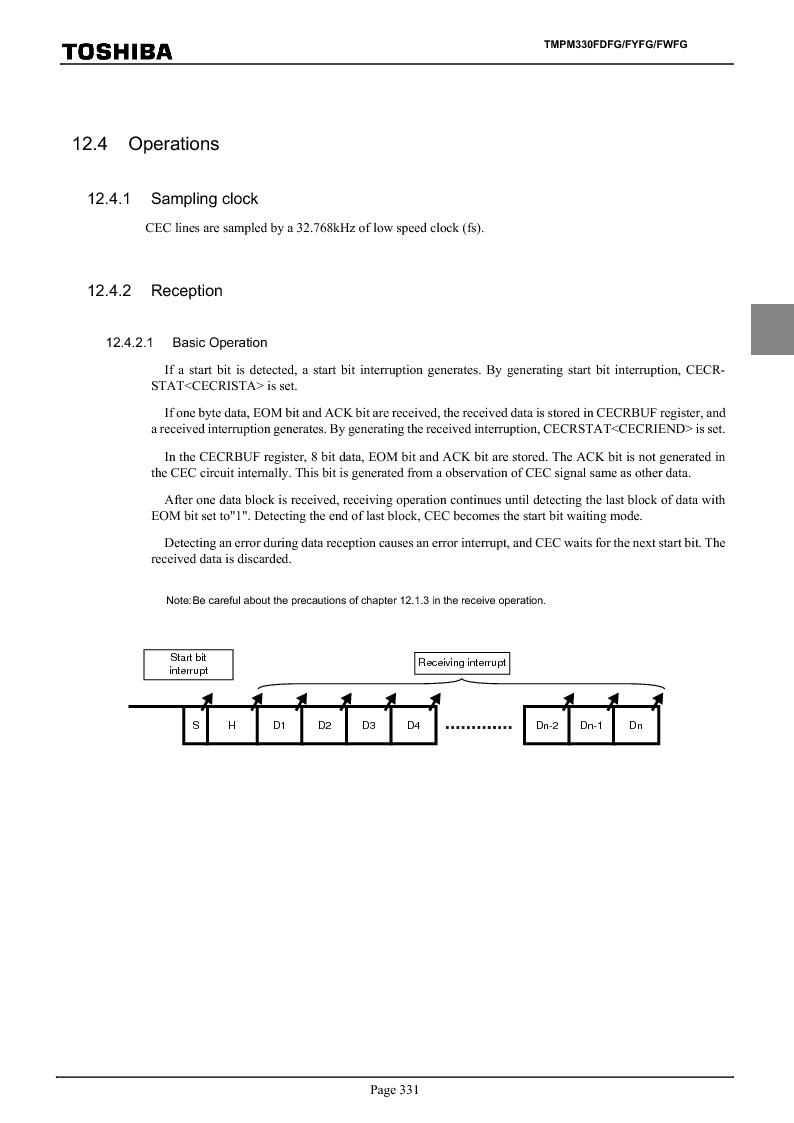 TMPM330FWFG ,Toshiba厂商,IC MICROCONTROLLER, TMPM330FWFG datasheet预览  第351页