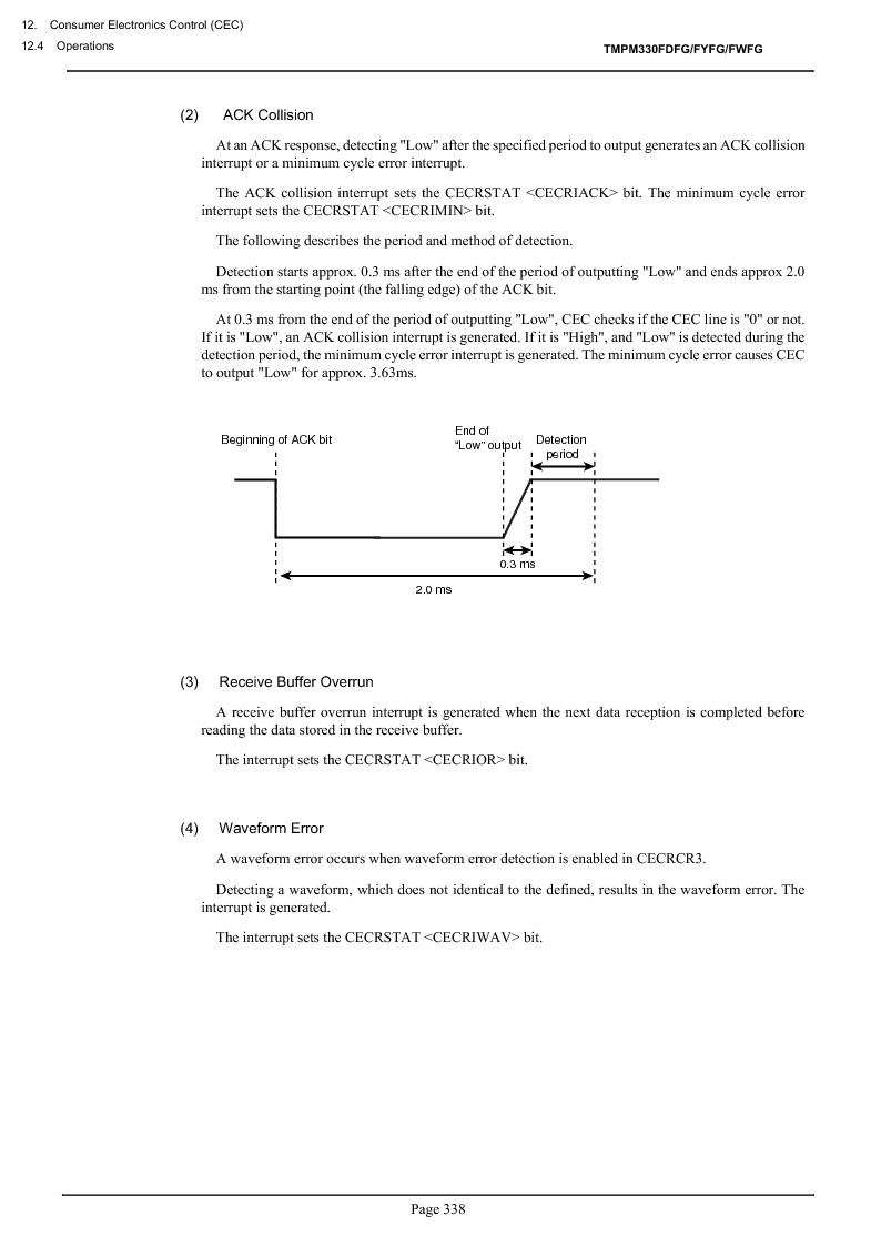 TMPM330FWFG ,Toshiba厂商,IC MICROCONTROLLER, TMPM330FWFG datasheet预览  第358页