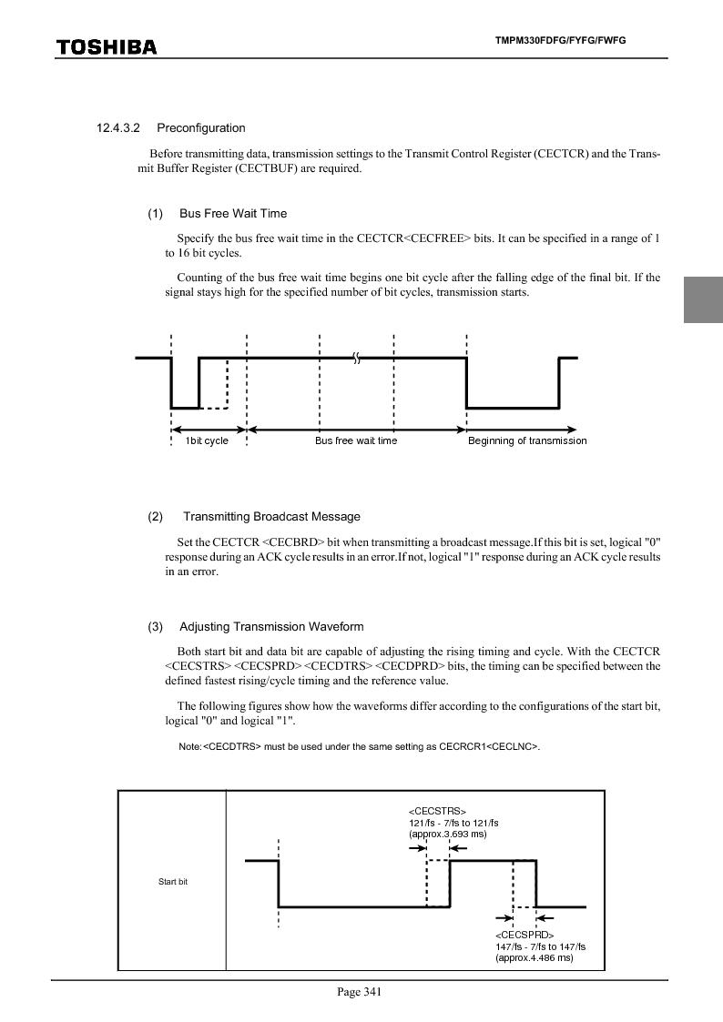 TMPM330FWFG ,Toshiba厂商,IC MICROCONTROLLER, TMPM330FWFG datasheet预览  第361页