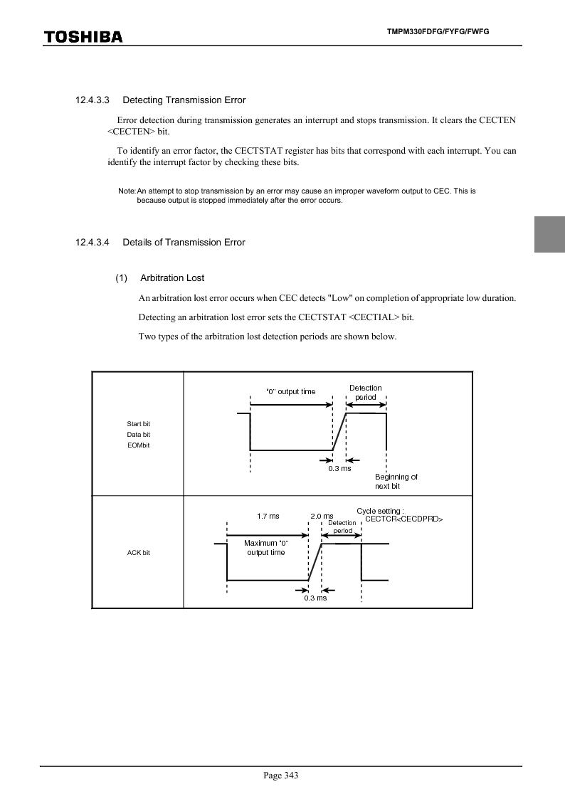 TMPM330FWFG ,Toshiba厂商,IC MICROCONTROLLER, TMPM330FWFG datasheet预览  第363页