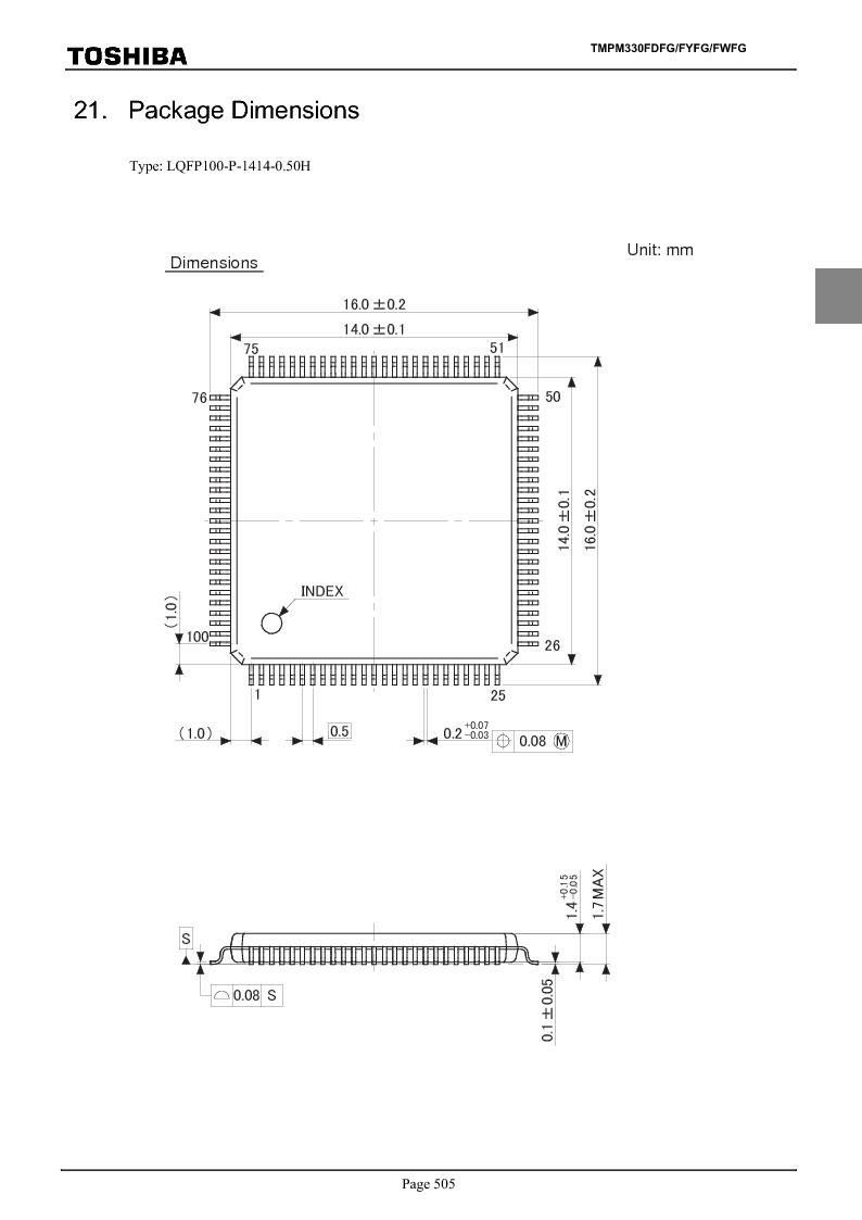 TMPM330FWFG ,Toshiba厂商,IC MICROCONTROLLER, TMPM330FWFG datasheet预览  第525页