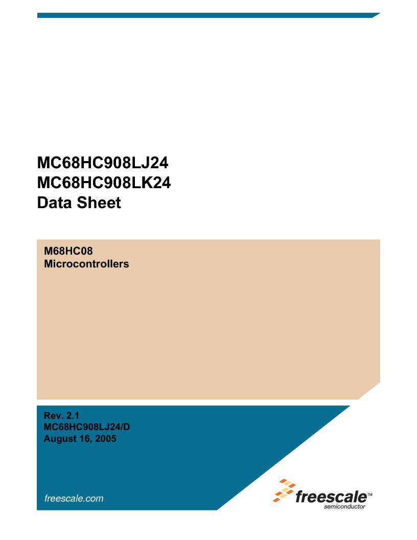 MC908LJ24CFUER ,Freescale Semiconductor厂商,IC MCU 24K FLASH 8MHZ SPI 64-QFP, MC908LJ24CFUER datasheet预览  第1页