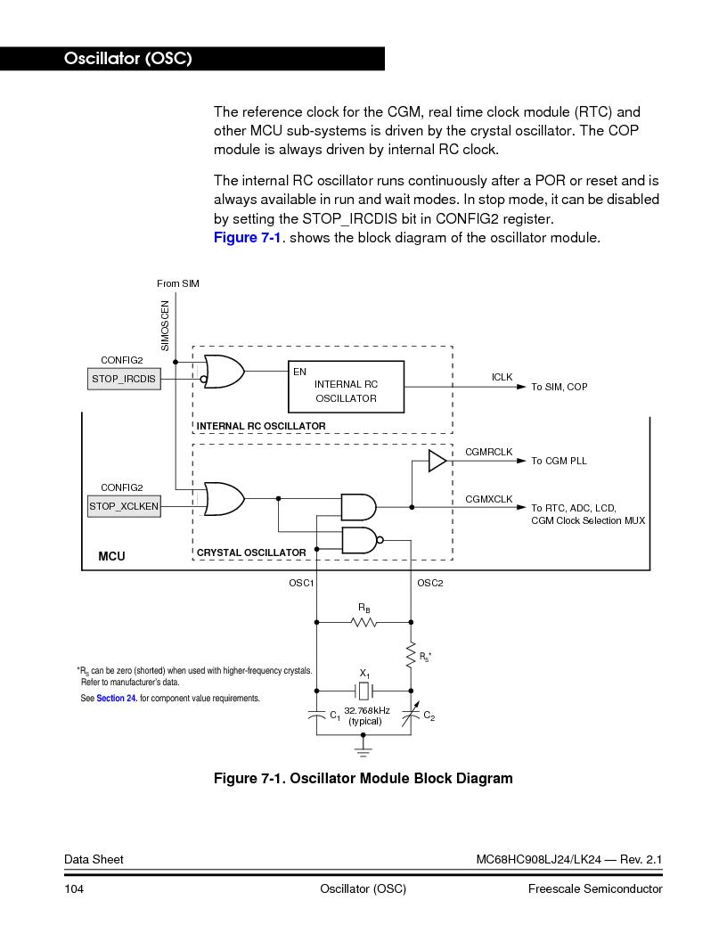 MC908LJ24CFUER ,Freescale Semiconductor厂商,IC MCU 24K FLASH 8MHZ SPI 64-QFP, MC908LJ24CFUER datasheet预览  第104页