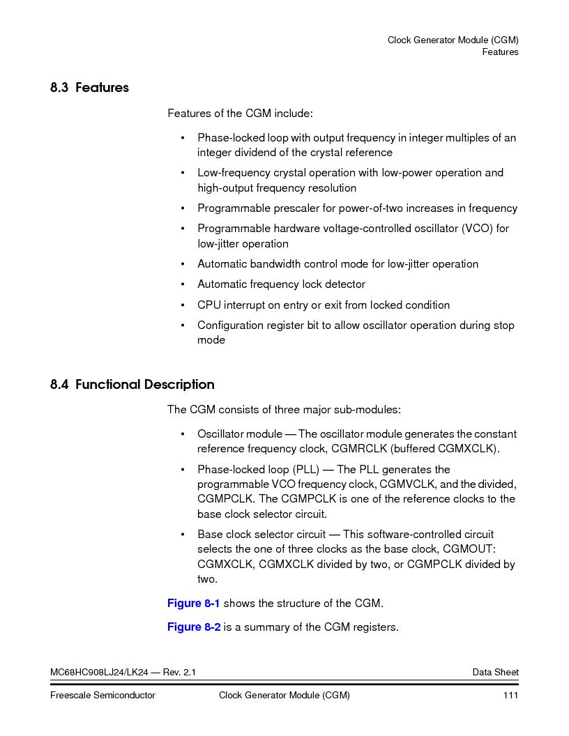 MC908LJ24CFUER ,Freescale Semiconductor厂商,IC MCU 24K FLASH 8MHZ SPI 64-QFP, MC908LJ24CFUER datasheet预览  第111页