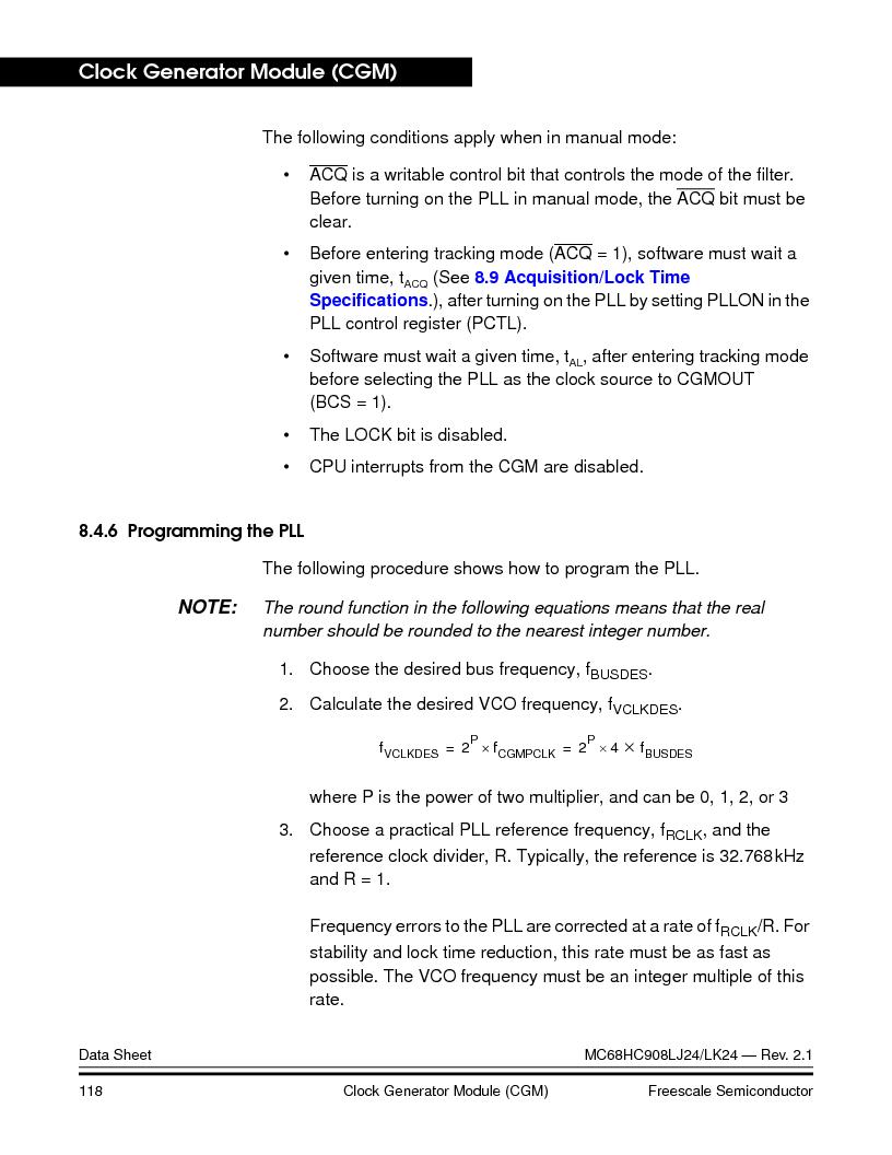 MC908LJ24CFUER ,Freescale Semiconductor厂商,IC MCU 24K FLASH 8MHZ SPI 64-QFP, MC908LJ24CFUER datasheet预览  第118页
