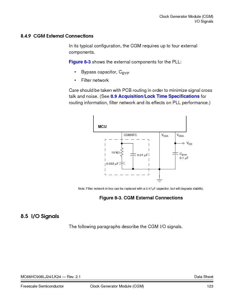 MC908LJ24CFUER ,Freescale Semiconductor厂商,IC MCU 24K FLASH 8MHZ SPI 64-QFP, MC908LJ24CFUER datasheet预览  第123页