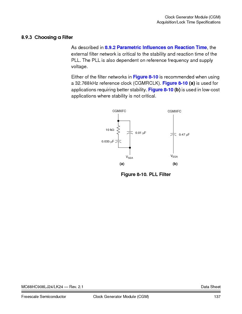 MC908LJ24CFUER ,Freescale Semiconductor厂商,IC MCU 24K FLASH 8MHZ SPI 64-QFP, MC908LJ24CFUER datasheet预览  第137页
