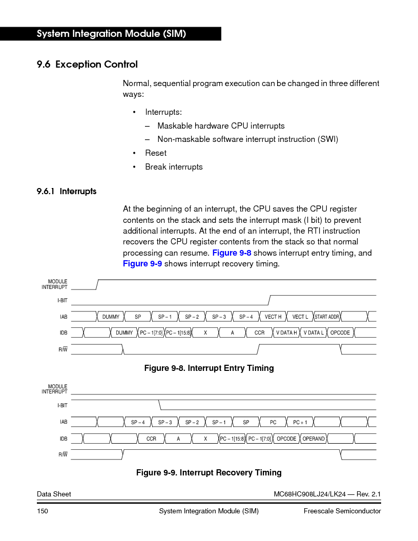 MC908LJ24CFUER ,Freescale Semiconductor厂商,IC MCU 24K FLASH 8MHZ SPI 64-QFP, MC908LJ24CFUER datasheet预览  第150页