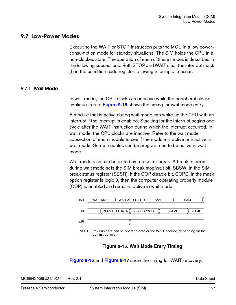 MC908LJ24CFUER ,Freescale Semiconductor厂商,IC MCU 24K FLASH 8MHZ SPI 64-QFP, MC908LJ24CFUER datasheet预览  第157页
