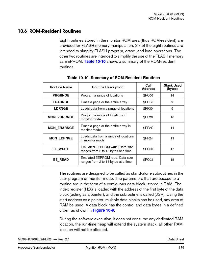 MC908LJ24CFUER ,Freescale Semiconductor厂商,IC MCU 24K FLASH 8MHZ SPI 64-QFP, MC908LJ24CFUER datasheet预览  第179页