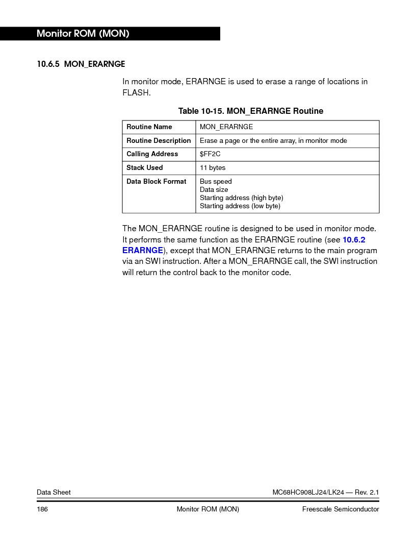 MC908LJ24CFUER ,Freescale Semiconductor厂商,IC MCU 24K FLASH 8MHZ SPI 64-QFP, MC908LJ24CFUER datasheet预览  第186页