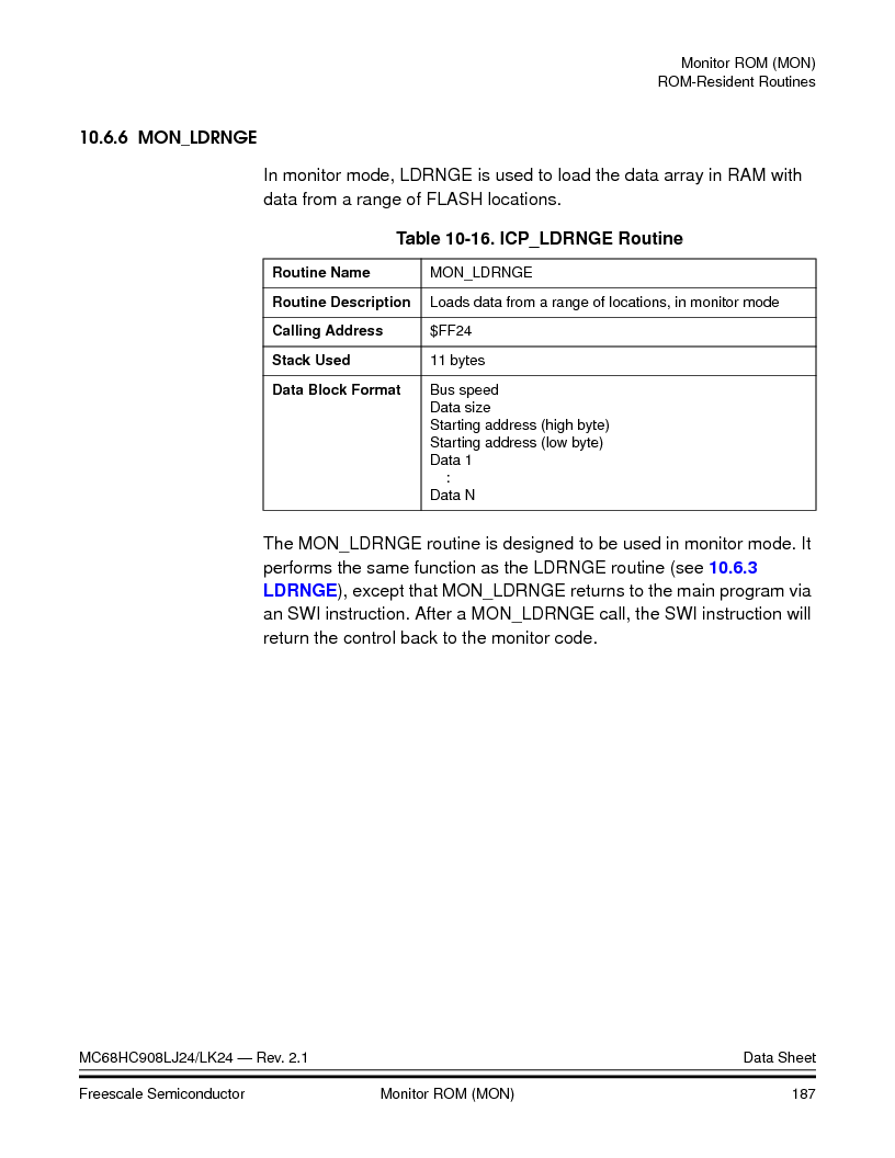 MC908LJ24CFUER ,Freescale Semiconductor厂商,IC MCU 24K FLASH 8MHZ SPI 64-QFP, MC908LJ24CFUER datasheet预览  第187页