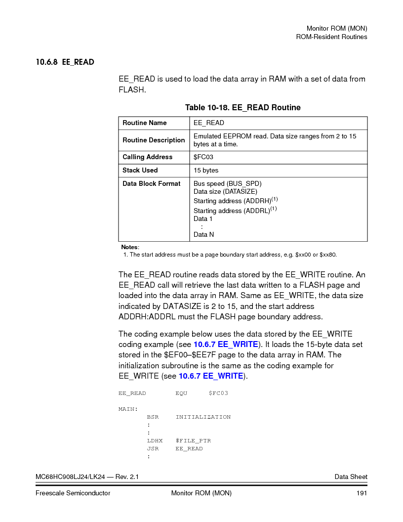 MC908LJ24CFUER ,Freescale Semiconductor厂商,IC MCU 24K FLASH 8MHZ SPI 64-QFP, MC908LJ24CFUER datasheet预览  第191页