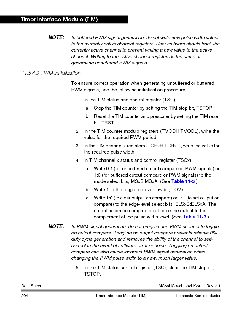 MC908LJ24CFUER ,Freescale Semiconductor厂商,IC MCU 24K FLASH 8MHZ SPI 64-QFP, MC908LJ24CFUER datasheet预览  第204页