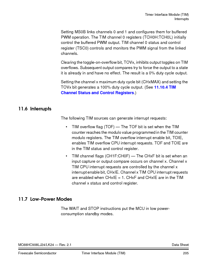 MC908LJ24CFUER ,Freescale Semiconductor厂商,IC MCU 24K FLASH 8MHZ SPI 64-QFP, MC908LJ24CFUER datasheet预览  第205页