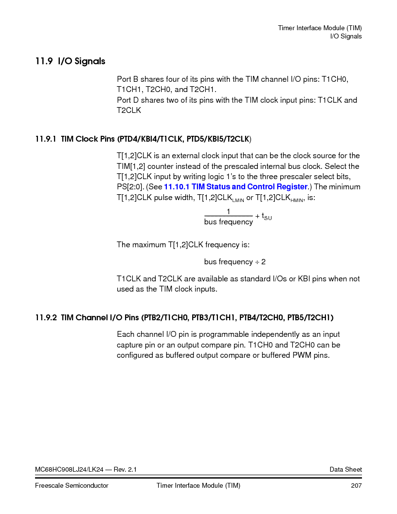 MC908LJ24CFUER ,Freescale Semiconductor厂商,IC MCU 24K FLASH 8MHZ SPI 64-QFP, MC908LJ24CFUER datasheet预览  第207页