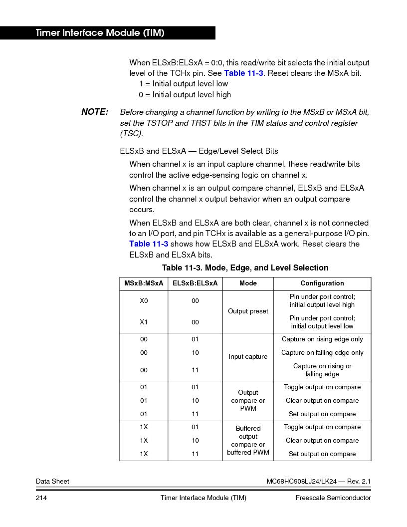 MC908LJ24CFUER ,Freescale Semiconductor厂商,IC MCU 24K FLASH 8MHZ SPI 64-QFP, MC908LJ24CFUER datasheet预览  第214页