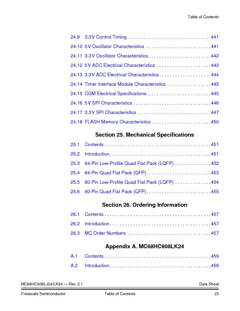 MC908LJ24CFUER ,Freescale Semiconductor厂商,IC MCU 24K FLASH 8MHZ SPI 64-QFP, MC908LJ24CFUER datasheet预览  第23页