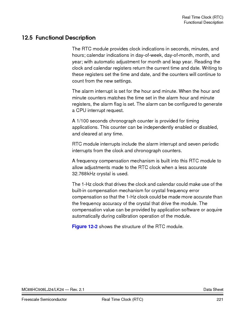 MC908LJ24CFUER ,Freescale Semiconductor厂商,IC MCU 24K FLASH 8MHZ SPI 64-QFP, MC908LJ24CFUER datasheet预览  第221页