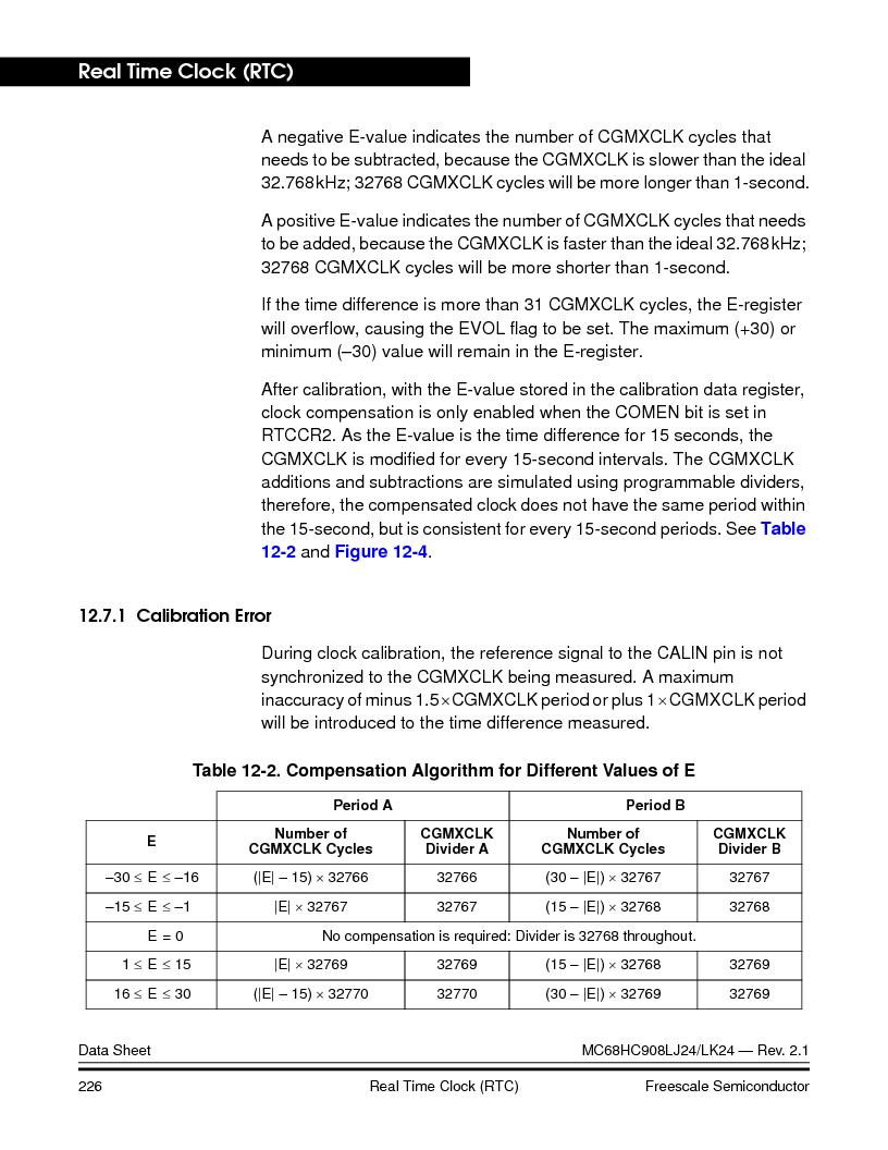 MC908LJ24CFUER ,Freescale Semiconductor厂商,IC MCU 24K FLASH 8MHZ SPI 64-QFP, MC908LJ24CFUER datasheet预览  第226页