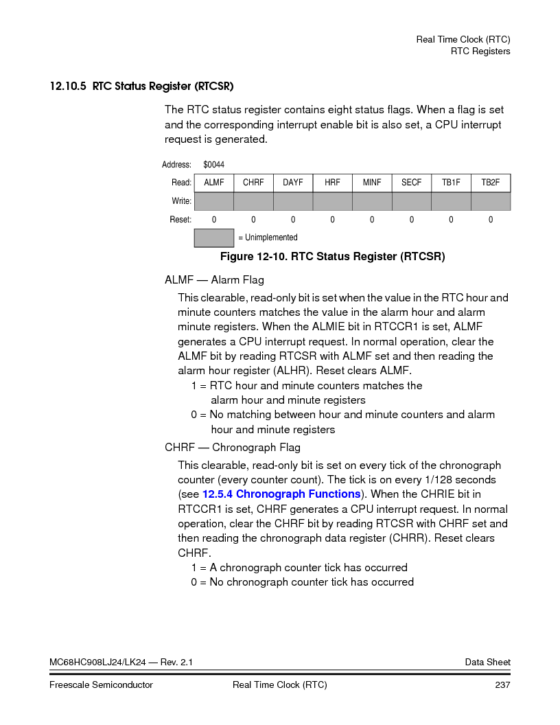 MC908LJ24CFUER ,Freescale Semiconductor厂商,IC MCU 24K FLASH 8MHZ SPI 64-QFP, MC908LJ24CFUER datasheet预览  第237页