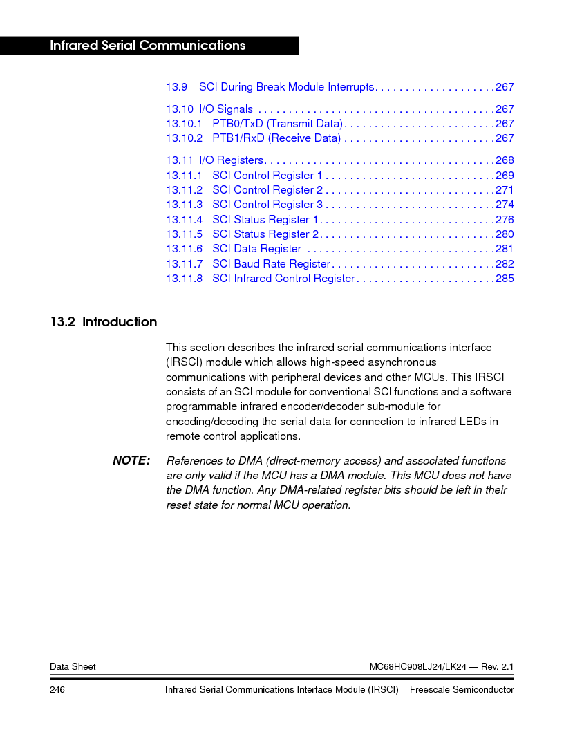 MC908LJ24CFUER ,Freescale Semiconductor厂商,IC MCU 24K FLASH 8MHZ SPI 64-QFP, MC908LJ24CFUER datasheet预览  第246页