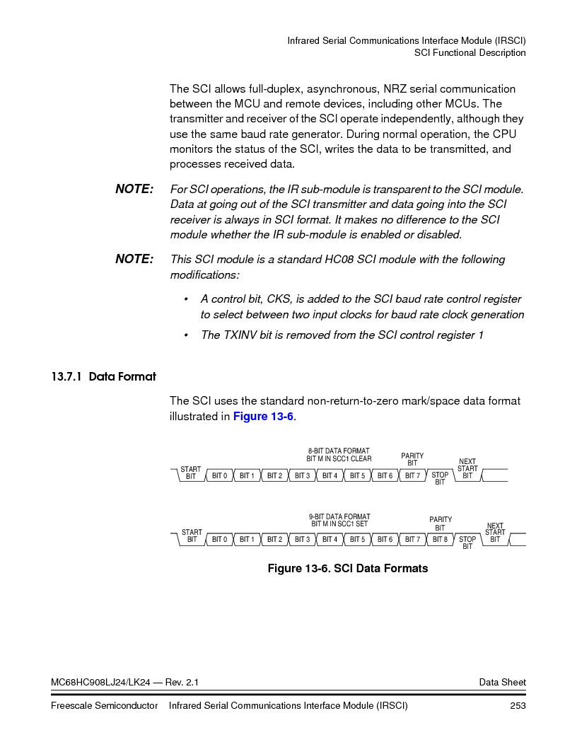 MC908LJ24CFUER ,Freescale Semiconductor厂商,IC MCU 24K FLASH 8MHZ SPI 64-QFP, MC908LJ24CFUER datasheet预览  第253页