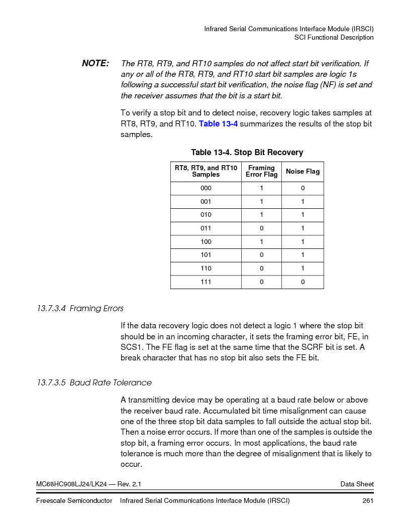 MC908LJ24CFUER ,Freescale Semiconductor厂商,IC MCU 24K FLASH 8MHZ SPI 64-QFP, MC908LJ24CFUER datasheet预览  第261页