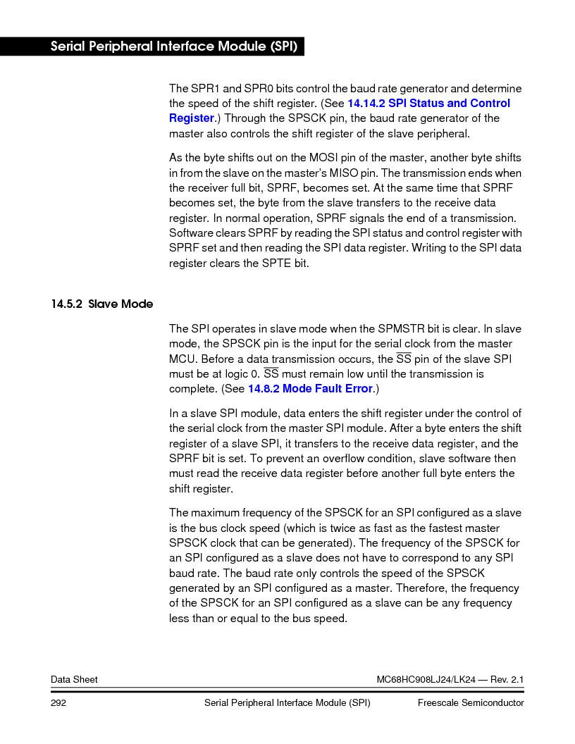 MC908LJ24CFUER ,Freescale Semiconductor厂商,IC MCU 24K FLASH 8MHZ SPI 64-QFP, MC908LJ24CFUER datasheet预览  第292页