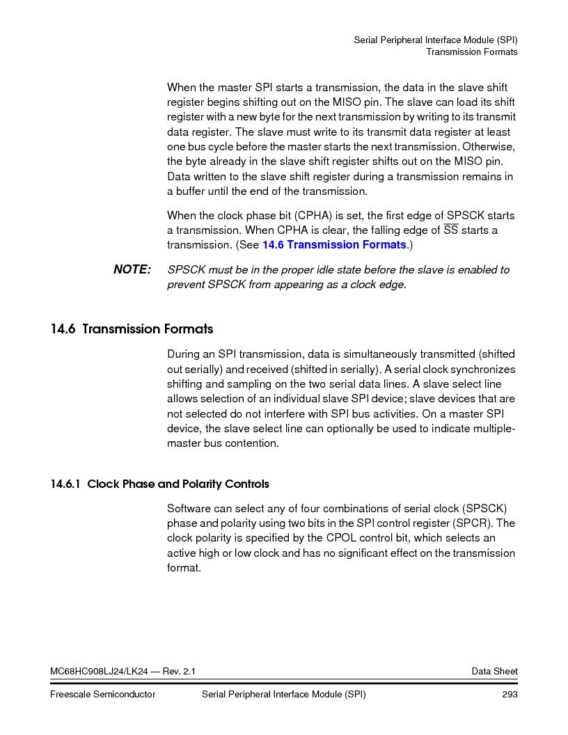 MC908LJ24CFUER ,Freescale Semiconductor厂商,IC MCU 24K FLASH 8MHZ SPI 64-QFP, MC908LJ24CFUER datasheet预览  第293页
