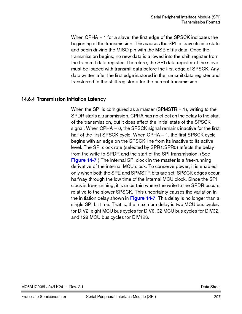 MC908LJ24CFUER ,Freescale Semiconductor厂商,IC MCU 24K FLASH 8MHZ SPI 64-QFP, MC908LJ24CFUER datasheet预览  第297页