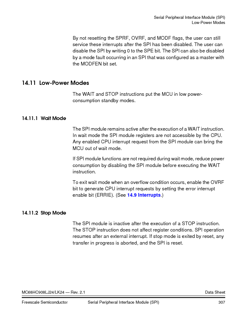 MC908LJ24CFUER ,Freescale Semiconductor厂商,IC MCU 24K FLASH 8MHZ SPI 64-QFP, MC908LJ24CFUER datasheet预览  第307页