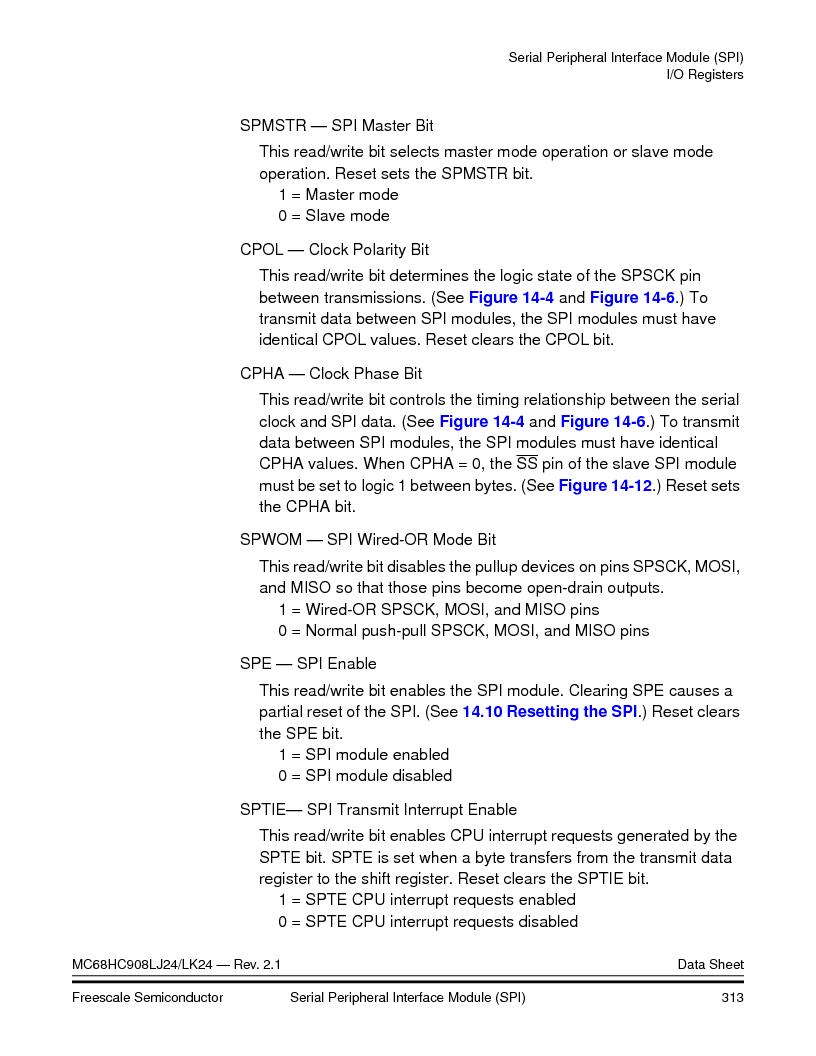 MC908LJ24CFUER ,Freescale Semiconductor厂商,IC MCU 24K FLASH 8MHZ SPI 64-QFP, MC908LJ24CFUER datasheet预览  第313页