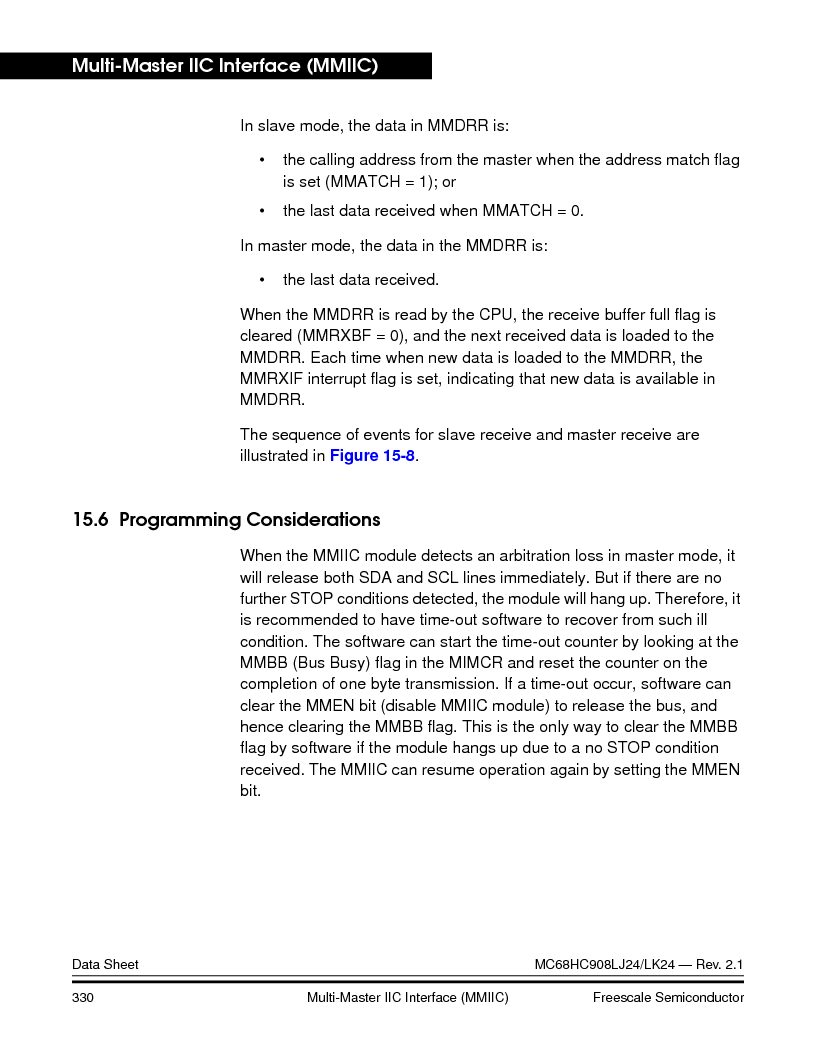 MC908LJ24CFUER ,Freescale Semiconductor厂商,IC MCU 24K FLASH 8MHZ SPI 64-QFP, MC908LJ24CFUER datasheet预览  第330页