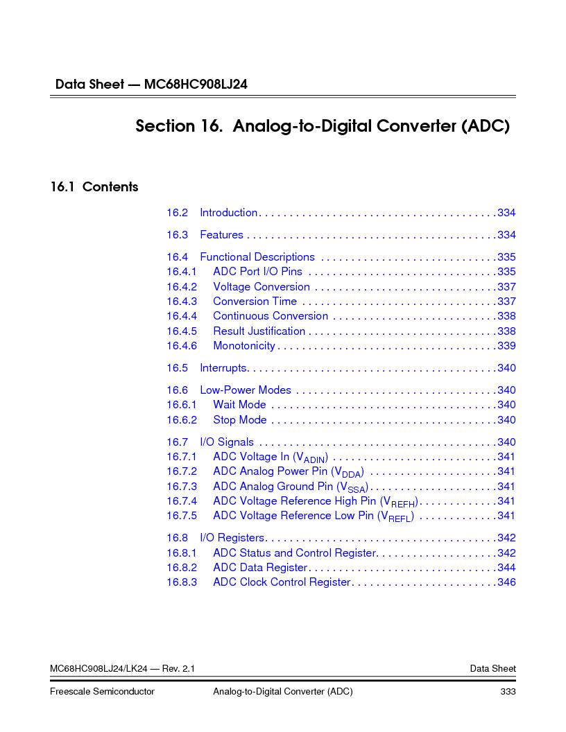 MC908LJ24CFUER ,Freescale Semiconductor厂商,IC MCU 24K FLASH 8MHZ SPI 64-QFP, MC908LJ24CFUER datasheet预览  第333页