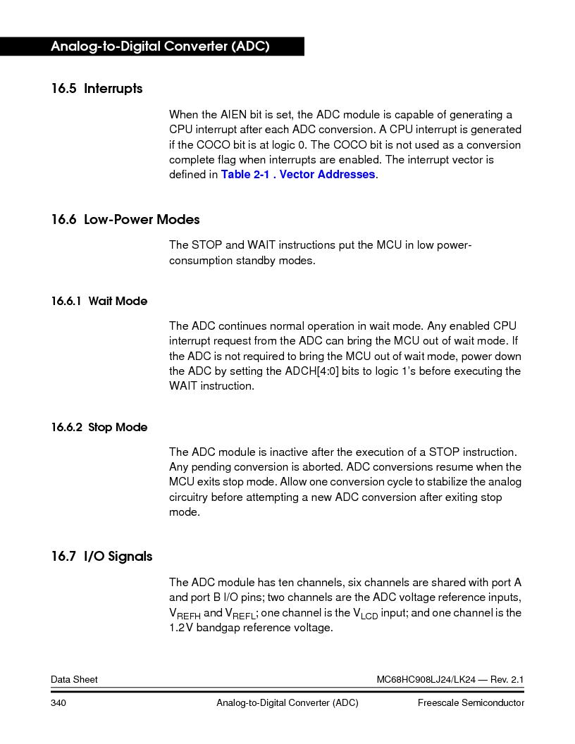 MC908LJ24CFUER ,Freescale Semiconductor厂商,IC MCU 24K FLASH 8MHZ SPI 64-QFP, MC908LJ24CFUER datasheet预览  第340页