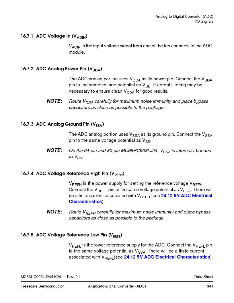 MC908LJ24CFUER ,Freescale Semiconductor厂商,IC MCU 24K FLASH 8MHZ SPI 64-QFP, MC908LJ24CFUER datasheet预览  第341页