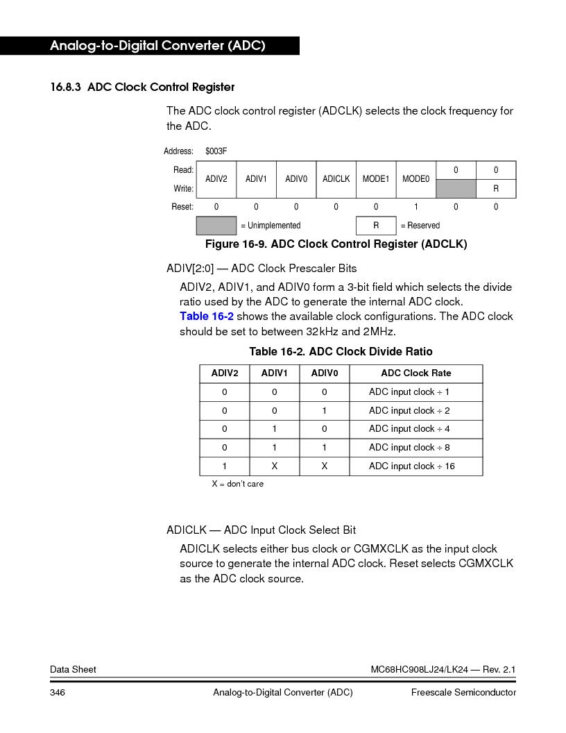 MC908LJ24CFUER ,Freescale Semiconductor厂商,IC MCU 24K FLASH 8MHZ SPI 64-QFP, MC908LJ24CFUER datasheet预览  第346页